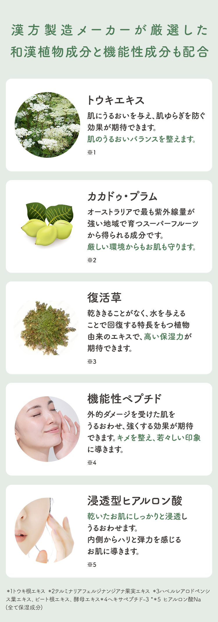 漢方製造メーカーが厳選した和漢植物成分と機能性成分も配合